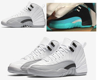 blue green jade - Retro Mens Basketball Shoes GS Barons Hyper Jade Sneakers Black Green White Grey s athletic shoes men women trainers