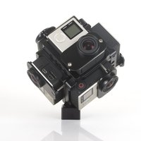 Wholesale Aix Camera Bracket Degree Panorama stents Panoramic Spherical Mount for GoPro Hero Full Shot Action Camcorder