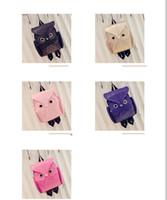 Wholesale Girl s Pu Leather Owl Cartoon Backpack