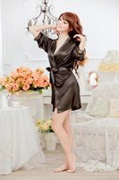Wholesale Sexy lingerie Mike Silk robe string set sleepwear costume sexy sleepwear Hot sales