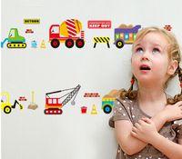 aircraft wallpaper - Cartoon Car Aircraft Ship DIY Vinyl Wall Stickers Kids Rooms Home Decor Art Decals D Wallpaper Decoration