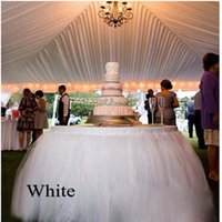 Wholesale Wedding Party Tulle Tutu Table Skirt Birthday Baby Shower Christmas Wedding Decor Cm L Cm H
