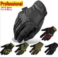 Wholesale New Mechanix Wear M pact Army Military Tactical Gloves Outdoor Paintball Shooting Full Finger Motocycel Bicycle Mittens