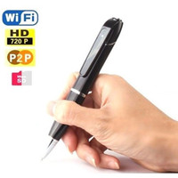 Wholesale FULL HD p WIRELESS P2P WiFi IP SPY CAMERA in BALLPOINT PEN for iOS ANDROID