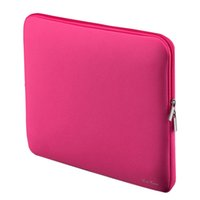 Wholesale 2017 Portable Laptop Bag Zipper Soft Sleeve Design Laptop Case for inch Ultrabook Laptop Notebook Color for Macbook Ipad P