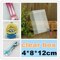 Wholesale 4 cm clear box pvc box customized products present box