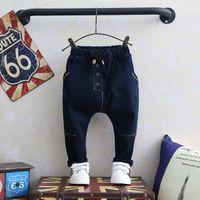 baggy jeans kids - Boys Pants Children Jeans Boy Jeans Harem Pants Fashion Baggy Jeans Autumn Denim Trouser Child Clothes Kids Clothing Lovekiss C28008