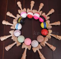 Wholesale JapaneKendama Ball se Traditional Wood Game Kids Toy PU Paint Beech Good Quality cmX6cm fast shipment
