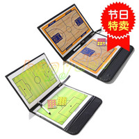 basketball coaching board - Outdoor Soccer basketball Coach Match Training Tactical Plate Coaching Board Kits Magnetic Chess Pieces Foldable Coach Board PU Cover