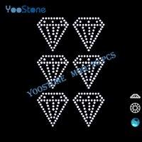 Wholesale 20 Most Popular Iron On Mini Six Diamonds Rhinestone Motifs For Wedding Party Clothing