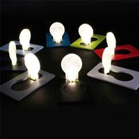 Wholesale LED Night Light LED Card Mini Wallet Pocket Credit Card Size Portable Lamp Bulbs Camping Hiking Outdoor