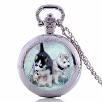 art dog tags - New Fashion Pug Pocket Watch Necklace Dog Pendant Animals Art Glass Jewelry Pug Pocket Watch