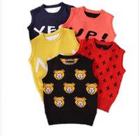 Wholesale 2016 Y New Spring autumn baby cardigan boy s sweater vest girls waistcoat outwear winter coat children clothes