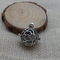Wholesale Sterling Silver Wholesale Mexico - New Mexico fashion pendant necklace can put pregnant women prenatal prenatal bell sounds beads Antique Silver mexcio bola