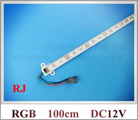 Wholesale SMD RGB LED rigid strip light RGB LED light bar LED counter light cabinet light lamp led cm DC12V Fedex