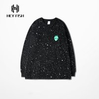 asian winter clothes - 2016 Winter Mens Dot Pattern Long Sleeve Sweatshirt Hip Hop Funny D Dlien Print Fashion Brand Clothing M XL Asian Size