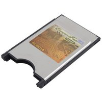 Wholesale New CF PCMCIA Compact Flash Card Reader Adaptor for PC Laptop Notebook