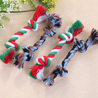 Wholesale Hot Sales Pets Dogs Pet Supplies Pet Dog Puppy Cotton Chew Knot Toy Durable Braided Bone Rope CM Funny Tool