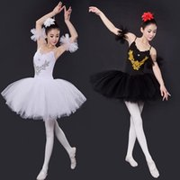 ballet black swan - Hot Sale Blue Red Black Adult Professional Swan Lake Tutu Skirt Women Ballet Dance Skirt Black Stage Ballet Costumes