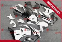 plastic injection molding - Painted white and gray custom plastic injection molding fairing Kawasaki Ninja ZX6R
