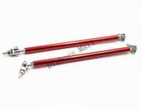 adjustable strut - 2pcs pair Blue Red Black cm Adjustable Front Or Rear Frame Bumper Lip Protector Rod Splitter Strut Tie Bar Support