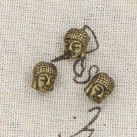 antique bronze buddha - 70pcs Charms buddha mm Antique Making pendant fit Vintage Tibetan Bronze DIY bracelet necklace