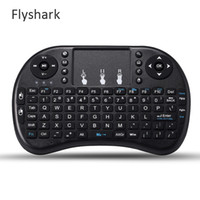 Wholesale Rii I8 Smart Fly Air Mouse Remote Backlight GHz Wireless Bluetooth Keyboard Remote Control Touchpad For Android Box MX3 M8S K08II