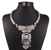 amazing earings - 2016 Amazing Value Jewelry Earings Set Kit of Classic Style Necklaces With Cute Owls Pendants On Chains In Silver Color Christmas