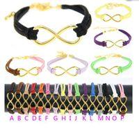 anchor symbols - 2016 new Infinite Bracelets Fashion Bracelets Cross Infinite Symbols Anchor Leather Rope Bracelet a variety of colors