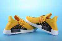 ad flat - Casual shoes Pharrell Williams X AD NMD HUMAN RACE SHOES COOL STOCK DROP SHIP Summer Shoes man New Fashion running shoes size