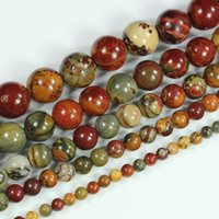 Wholesale Natural Picasso Jasper Round Loose Gemstone Beads quot mm mm mm mm mm pick size