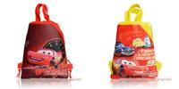 Backpacks 29*22CM new&good 12Pcs Cars Children Boys Drawstring Backpack Kids School Shopping Bags,Party Gift Favor,Free Shipping