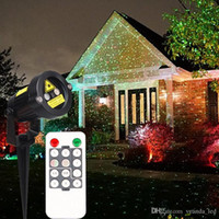 Wholesale 2016 Christmas Laser garden lights decorative lamp red and green light auto strobe outdoor waterproof lawn light stage lights