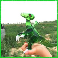 acrylic claw - 7 quot Tyrannosaurus with white claws and a crystal clear ball dinosaur oil rigs dab rigs with COLORED female polished joint mm