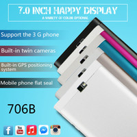 android docking - 706 New model G tablet phone call dual core android systems Mtk6572 gps wifi USB OTG playstore Instock DHL shipping