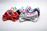 Wholesale Baby Girls Big sequins Bows pin Baby girls Headbands Hairband children lovely accessories kids Hairbands A77654