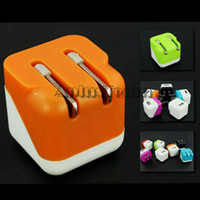apple dice - Cubic Folding USB Wall Charger Colorful V A Dice Portable Mini Foldable US EU Plug Home AC Power Charging Adapter for Iphone s Samsung