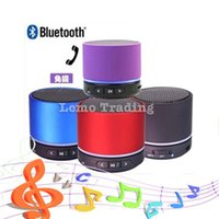 Wholesale 100pcs DHL S11 Mini speaker Wireless Bluetooth HIFI speakers with Strong bass Support TF Card For Phones