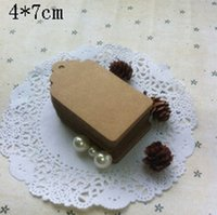 antique birthday card - 4 cm Antique Kraft Paper Gift Cards Tags with Swirl Edges for Wedding Party Favor Gift Decoration