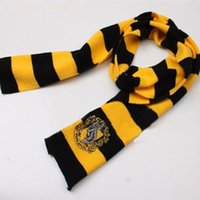 Wholesale X170CM New Fashion Color College scarf Harry Potter Gryffindor Series scarf With Badge Personality Cosplay Knit Scarves