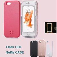 apple night light - For iphone7 plus Bright night Light UP Flash LED Selfie Luminous Hard Back Case Cover For iPhone6 Plus s DHL Free SCA153