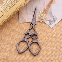 antique sewing supplies - New Creative Antique Scissors Zakka Vintage Stripe Hollow Sewing Supplies Cr13 Steel PC order lt no track