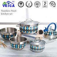 Wholesale Jogo De Panelas Kitchen Cooking Pots Limited New Stainless Steel Cooking Pots And Pans Set Pan Cookware With Colordesign