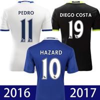 Wholesale 2016 chelsea jersey soccer thai quality third white chelsea Hazard Camiseta de futbol OSCAR TERRY BATSHUAYI maillot de foot