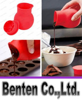 Wholesale Practical Silicone Chocolate Melting Pot Mould Butter Sauce Milk Baking Pouring liquid holding fresh keeping jars bottles LLFA