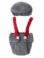 Wholesale HOT Newborn Baby Girls Boys Clothes Crochet Knitted Costume Photo Photography Props Outfits