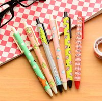Wholesale 2016 hot shipping mm Creative Funny Korean Illustration Gel Pen Ink Pen Promotional Gift Stationery School Office Supply