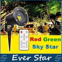 Wholesale Outdoor Chritmas Laser Lights Projector Waterproof IP65 Garden Lights With Remote Control Red Green Holiday Decoracion Light