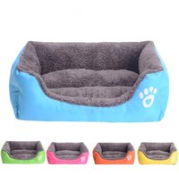 Wholesale Pet Dog Cat Bed Puppy Cushion House Pet Soft Warm Kennel Dog Mat Blanket Color