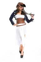 adult womens pirate costume - New Adult Womens Sexy Halloween Party Pirate Costumes Outfit Fancy West Cowboy Cosplay Dresses With Hat